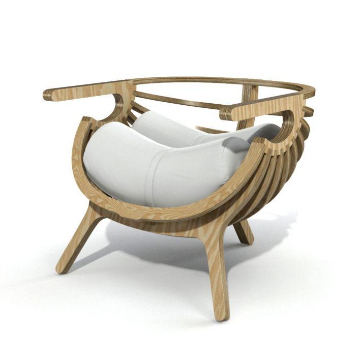 armchair 3 AM121 Archmodels