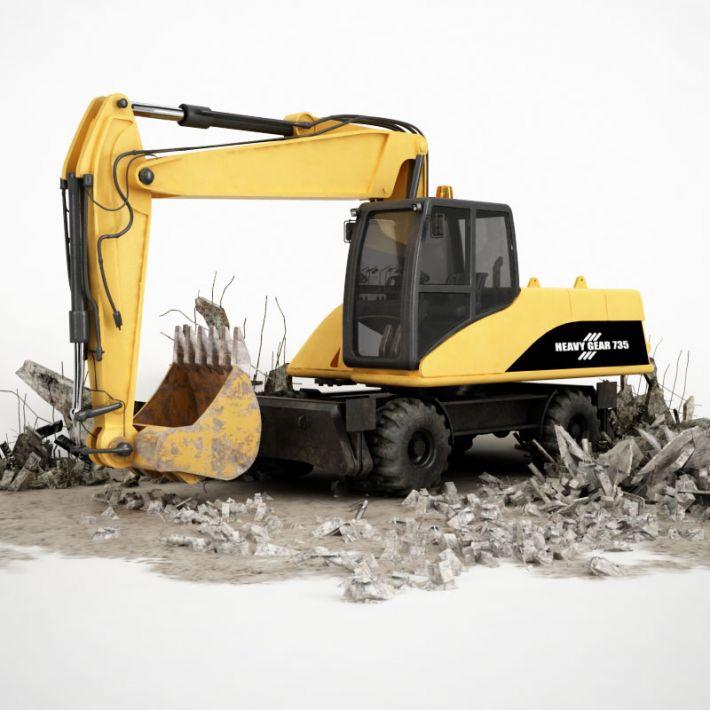 excavator 3 AM115 Archmodels