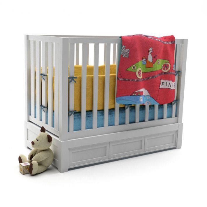 baby bed 16 AM119 Archmodels