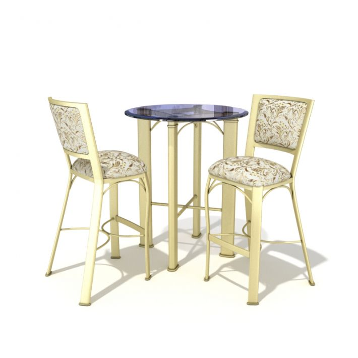 table & chair set 9 AM54 Archmodels