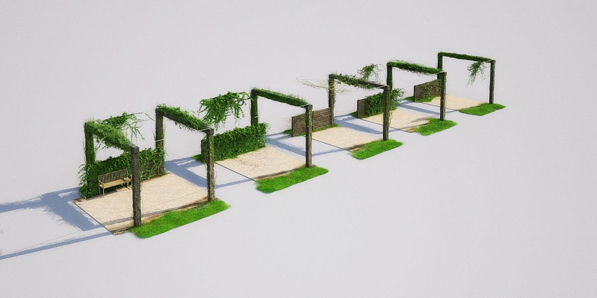 garden 1 1 AM148 Archmodels