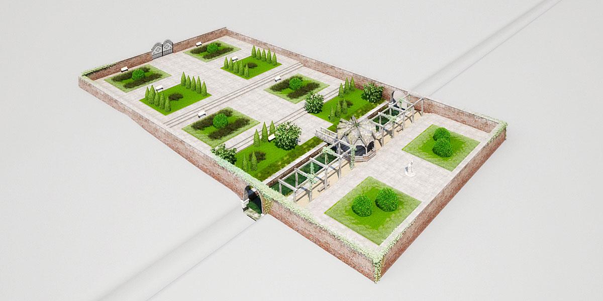 garden 3 AM148 Archmodels