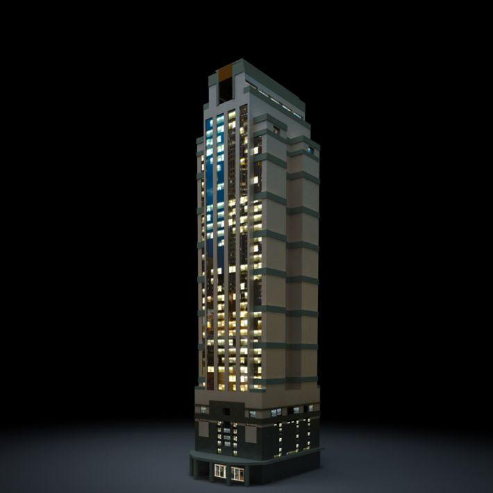 skyscraper 38 AM103 Archmodels