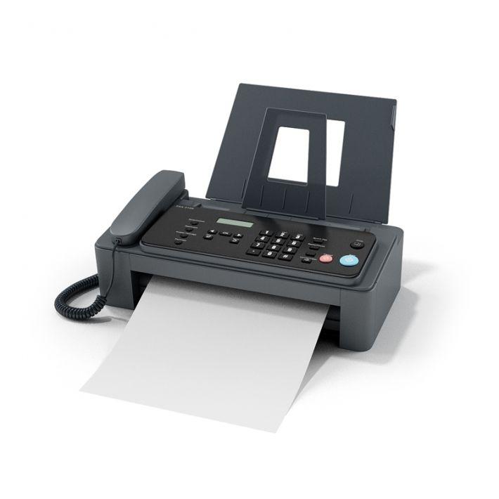 fax machine 58 AM87 Archmodels