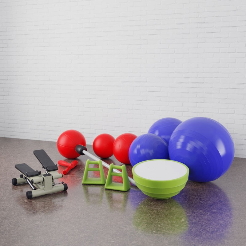 Gym equipment 20 AM169 Archmodels