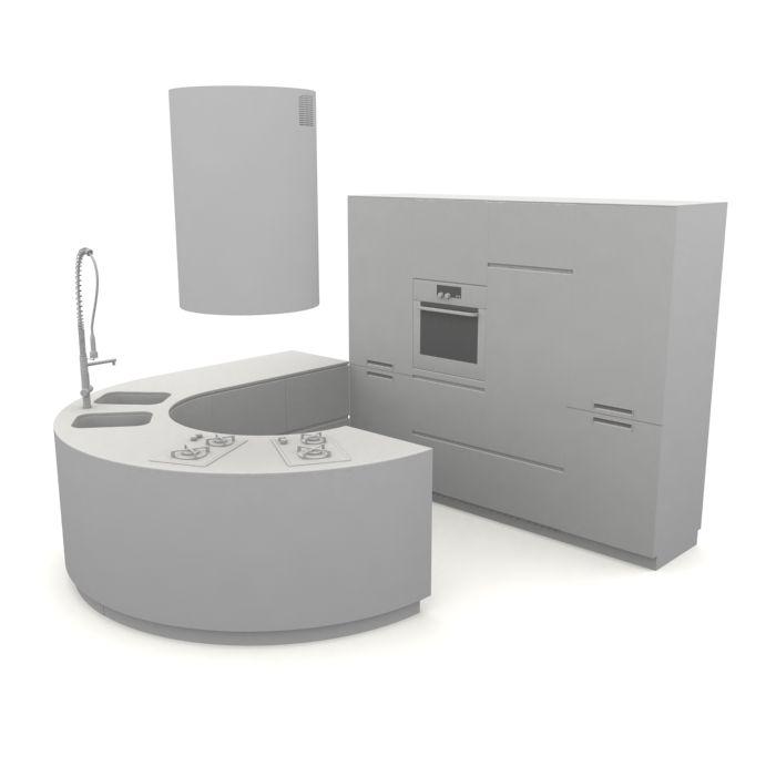 kitchen furniture set 127 AM10 Archmodels