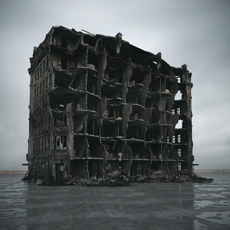 destroyed building 104 am165