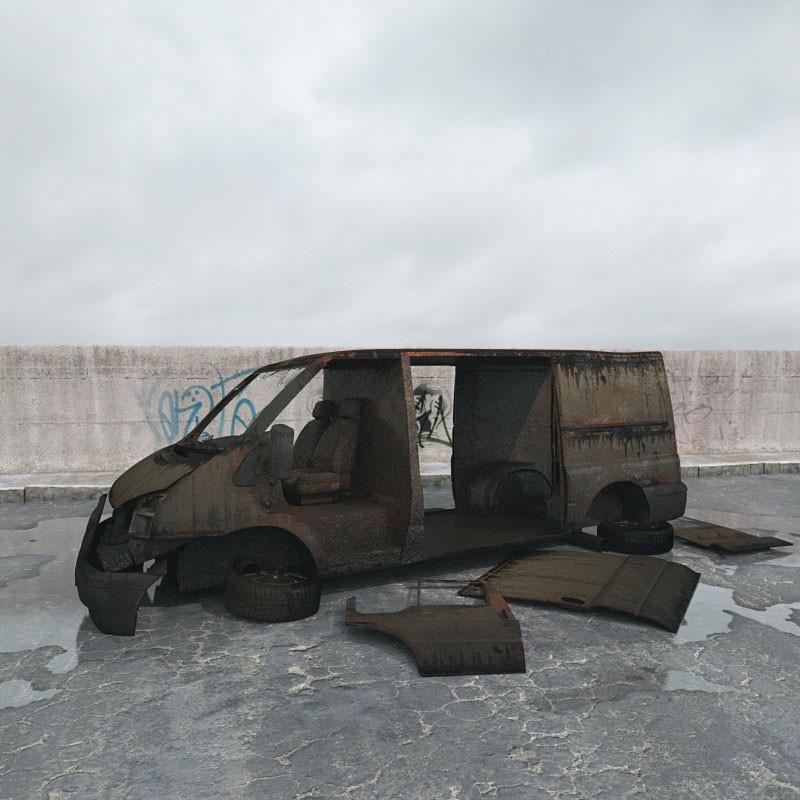 destroyed van 015 am165