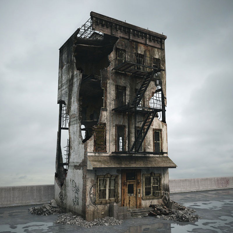 destroyed building 083 am165