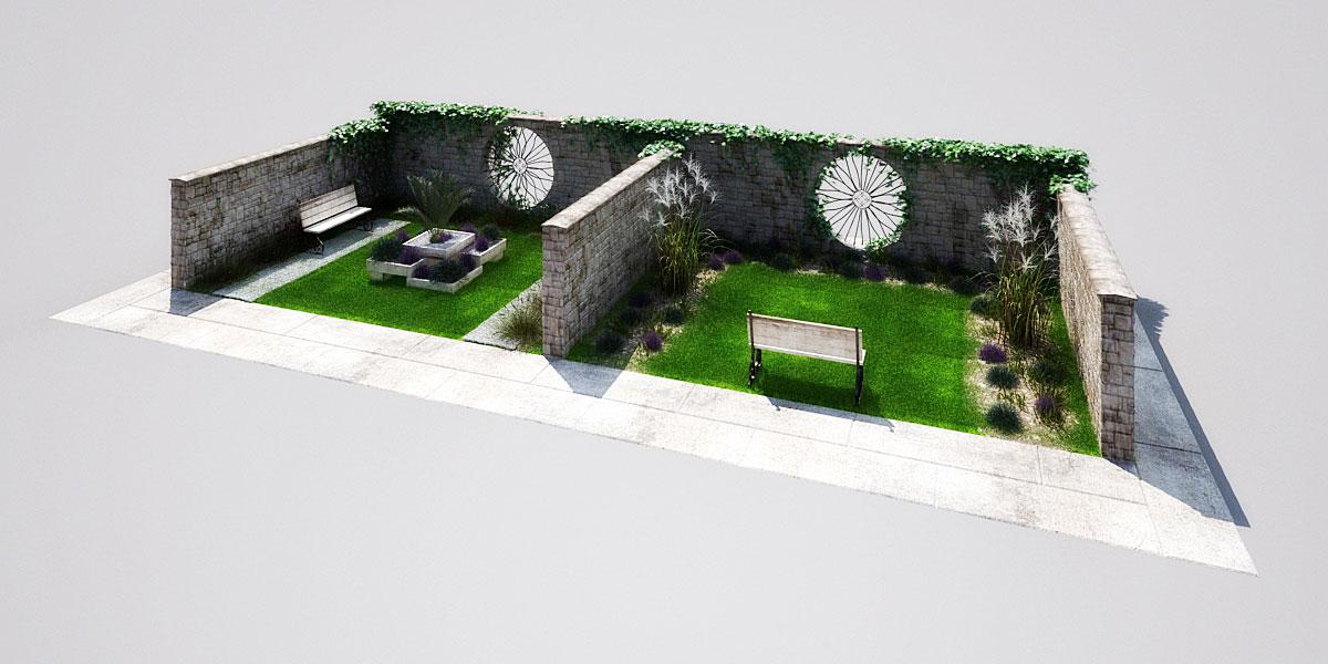 garden 2 3 AM148 Archmodels