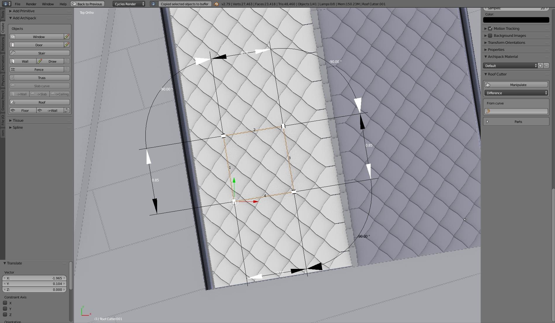 Archipack Testing New Addon In Blender 2 79 Evermotion Org