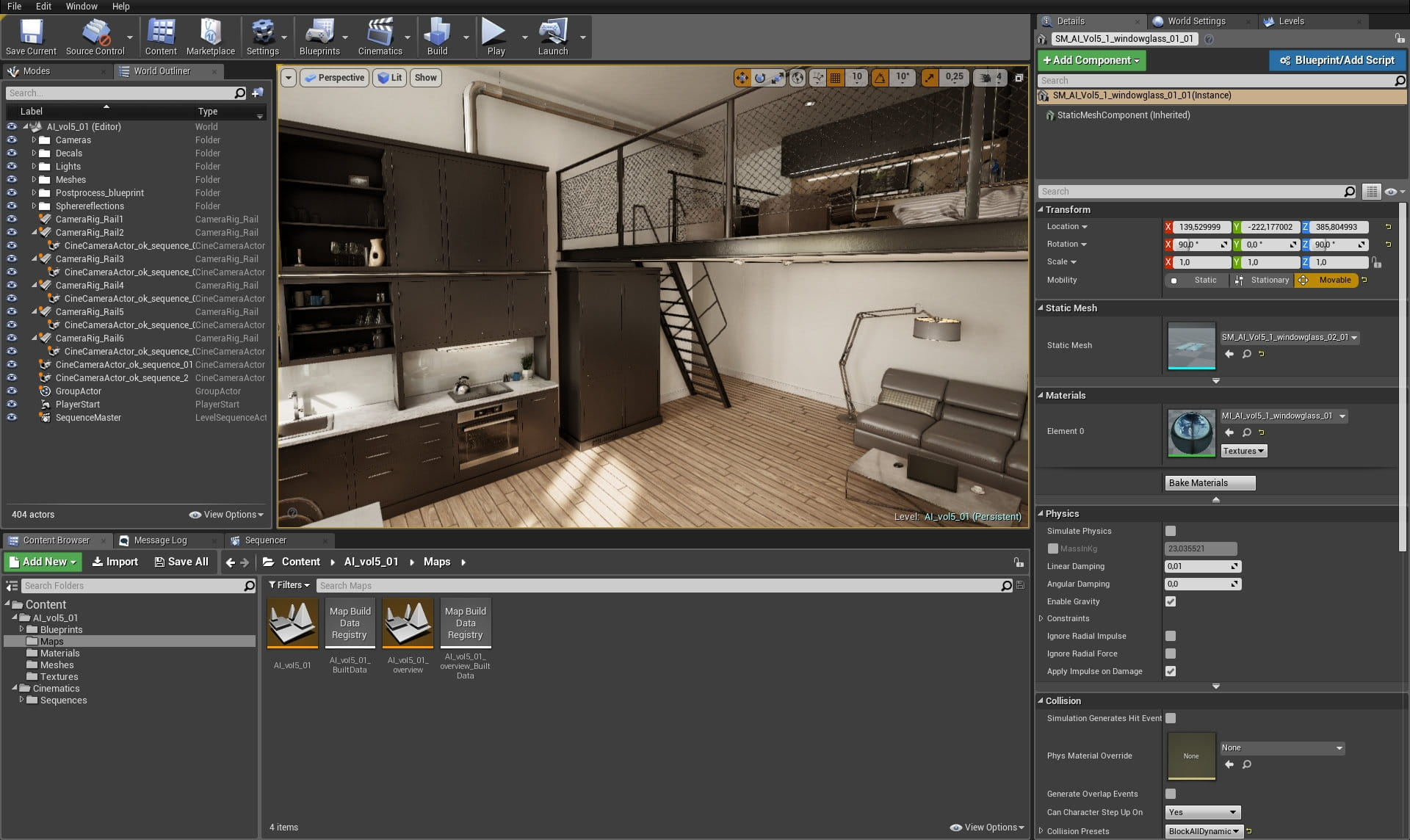Making of Unreal Loft - Tip of the Week - Evermotion