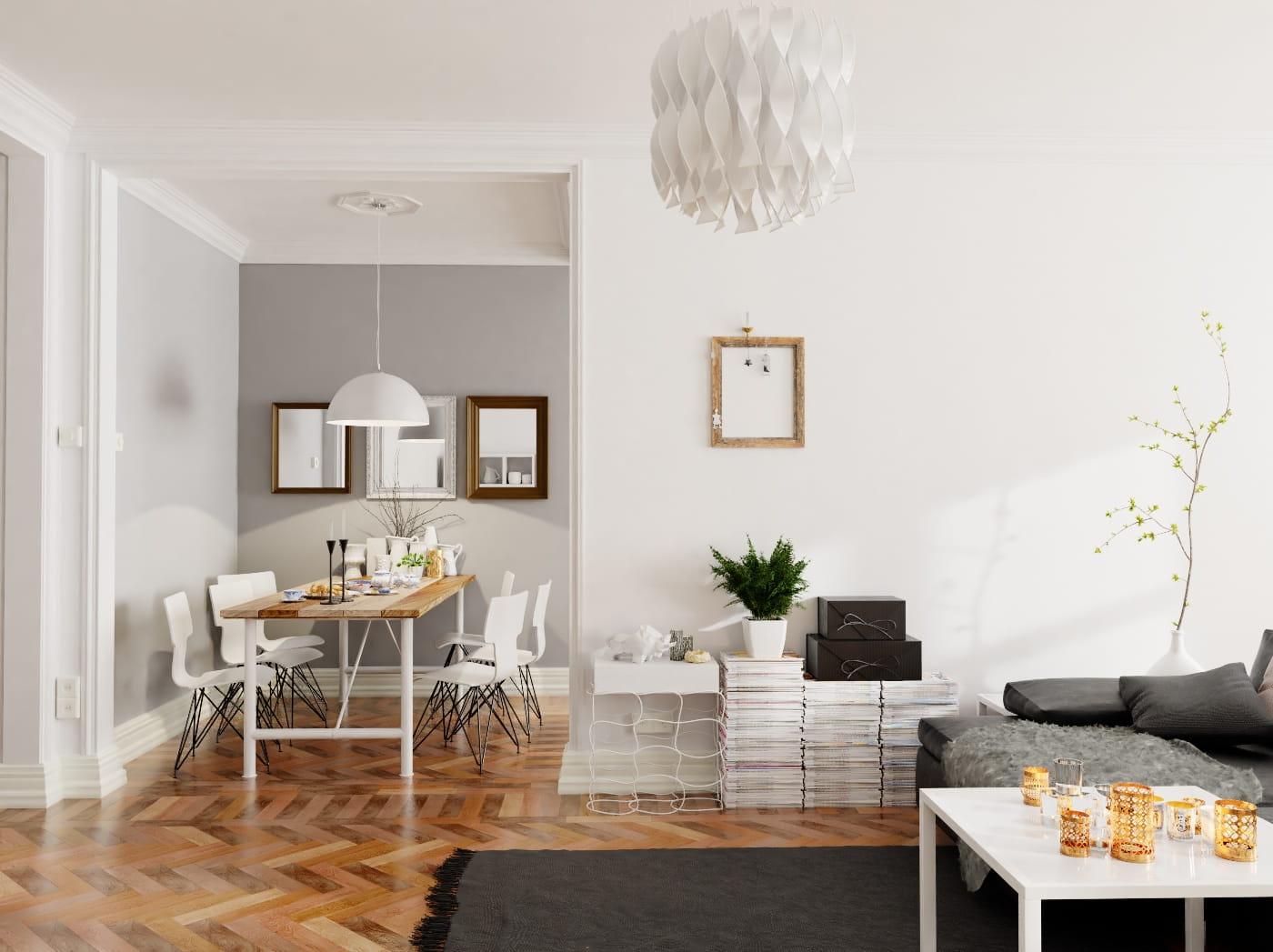 minimalist stock black and room white photo living rendering