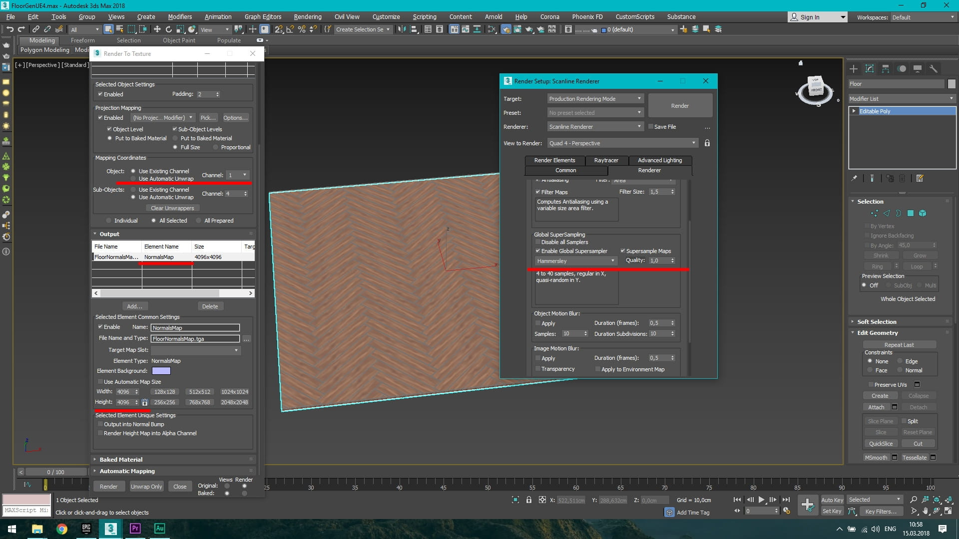 Floor Generator to Unreal Engine 4 - Evermotion
