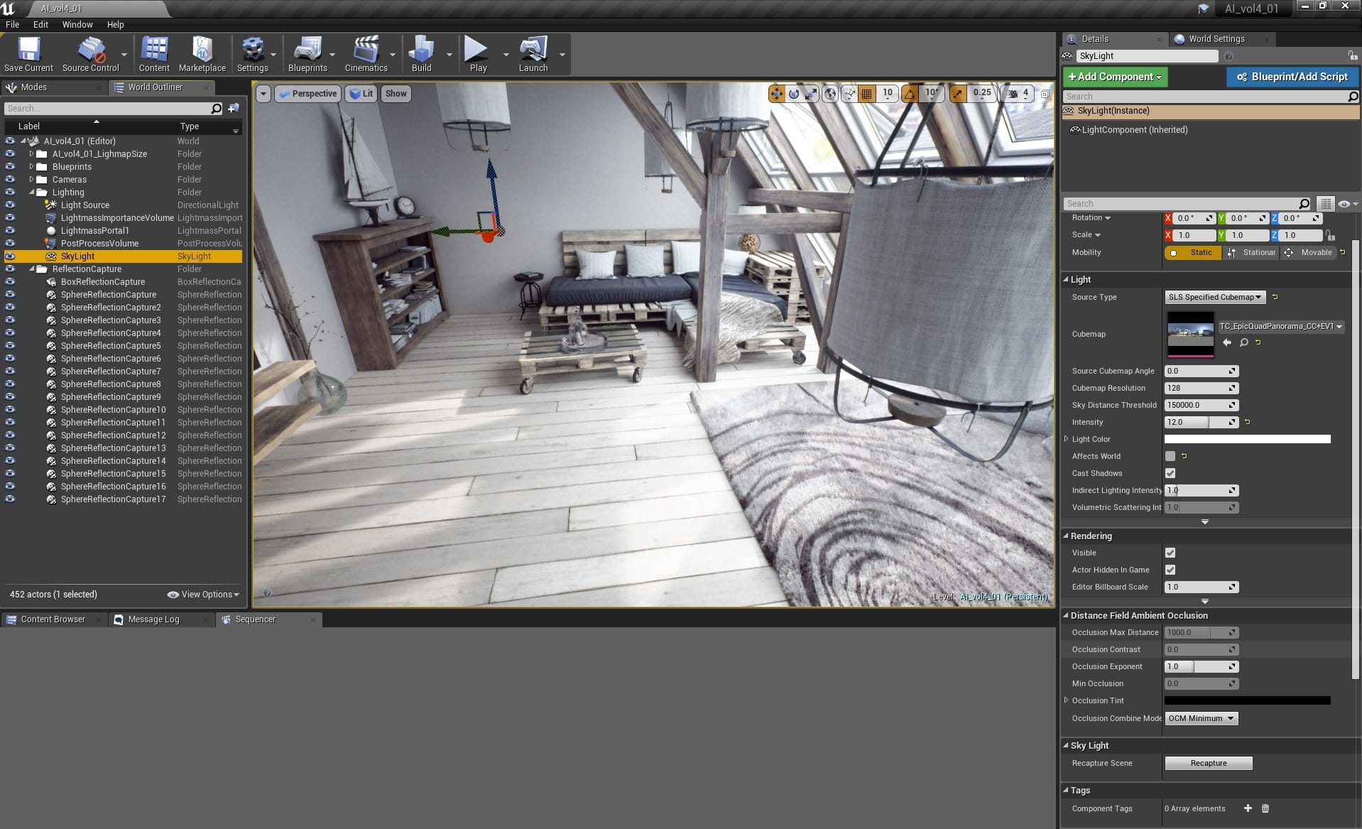 Unreal Engine: Making of Bright Interior - Tip of the Week