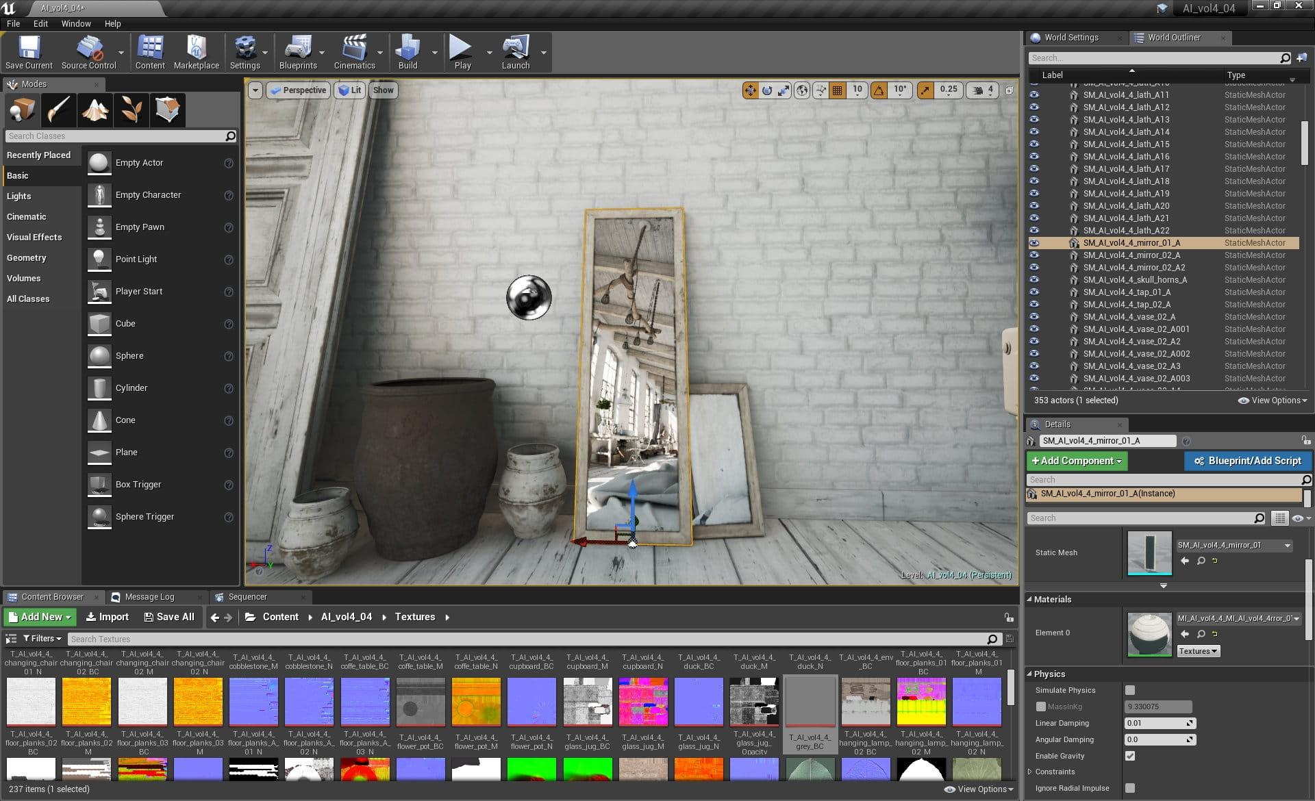 Unreal Engine: Making of Vintage Loft - Tip of the Week