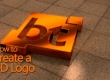 Create a 3d logo in Blender
