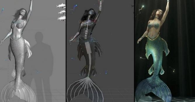 CGI VFX Making of HD: Magic Mirror - Mermaid - Evermotion org