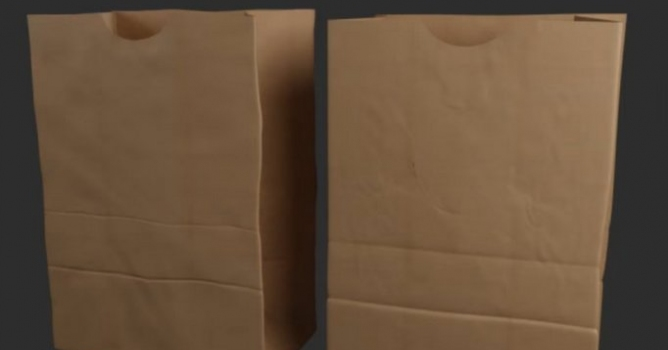 Modeling a paper bag in 3ds Max and ZBrush - Evermotion