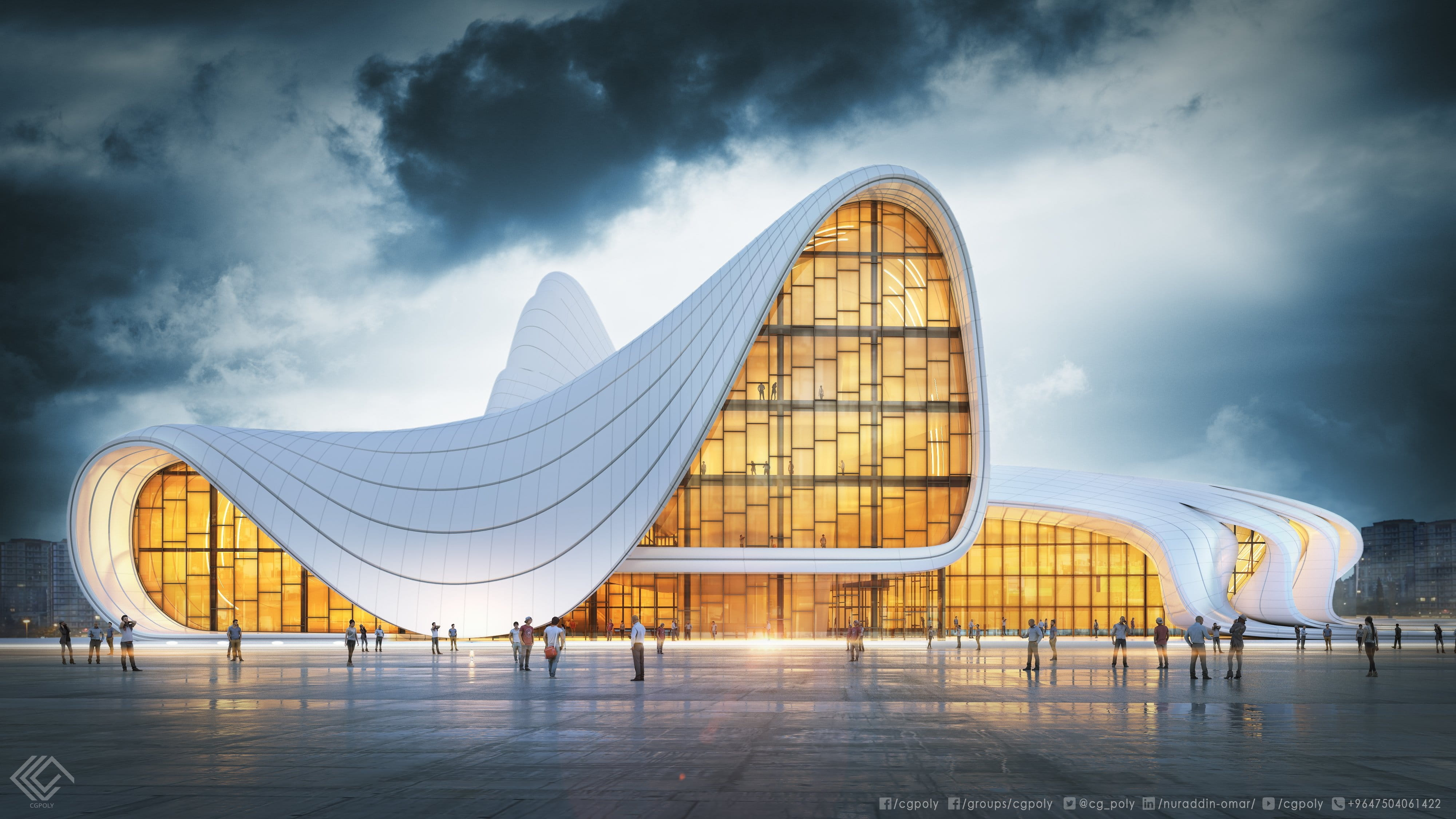 Simulation of zaha hadid architect project evermotion for Architect 3d free