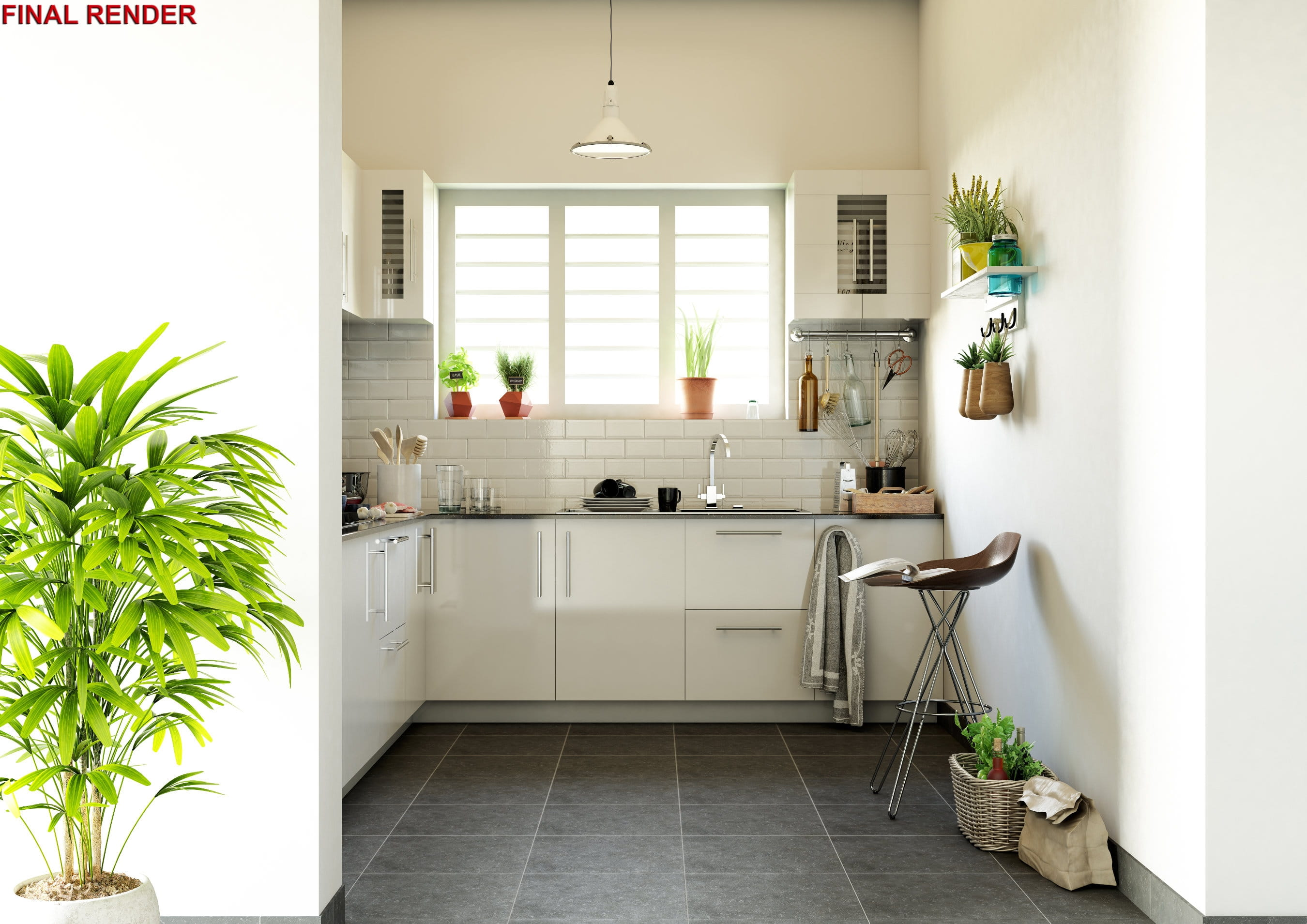 3ds Max and V-Ray: Making of White Kitchen - Evermotion