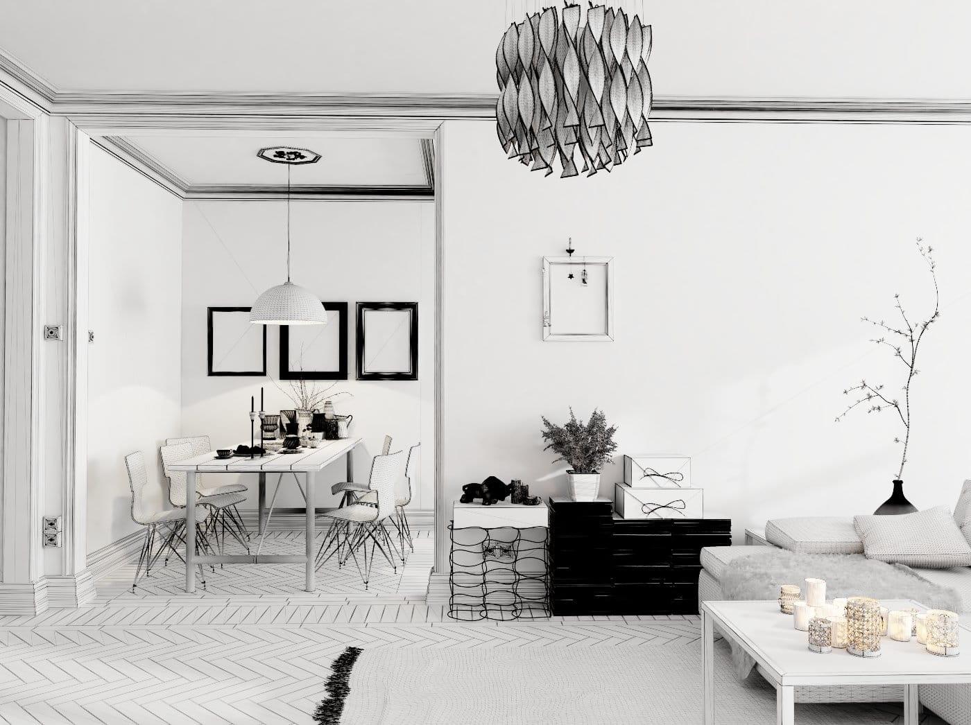 Blender: Making of White Living Room - Evermotion