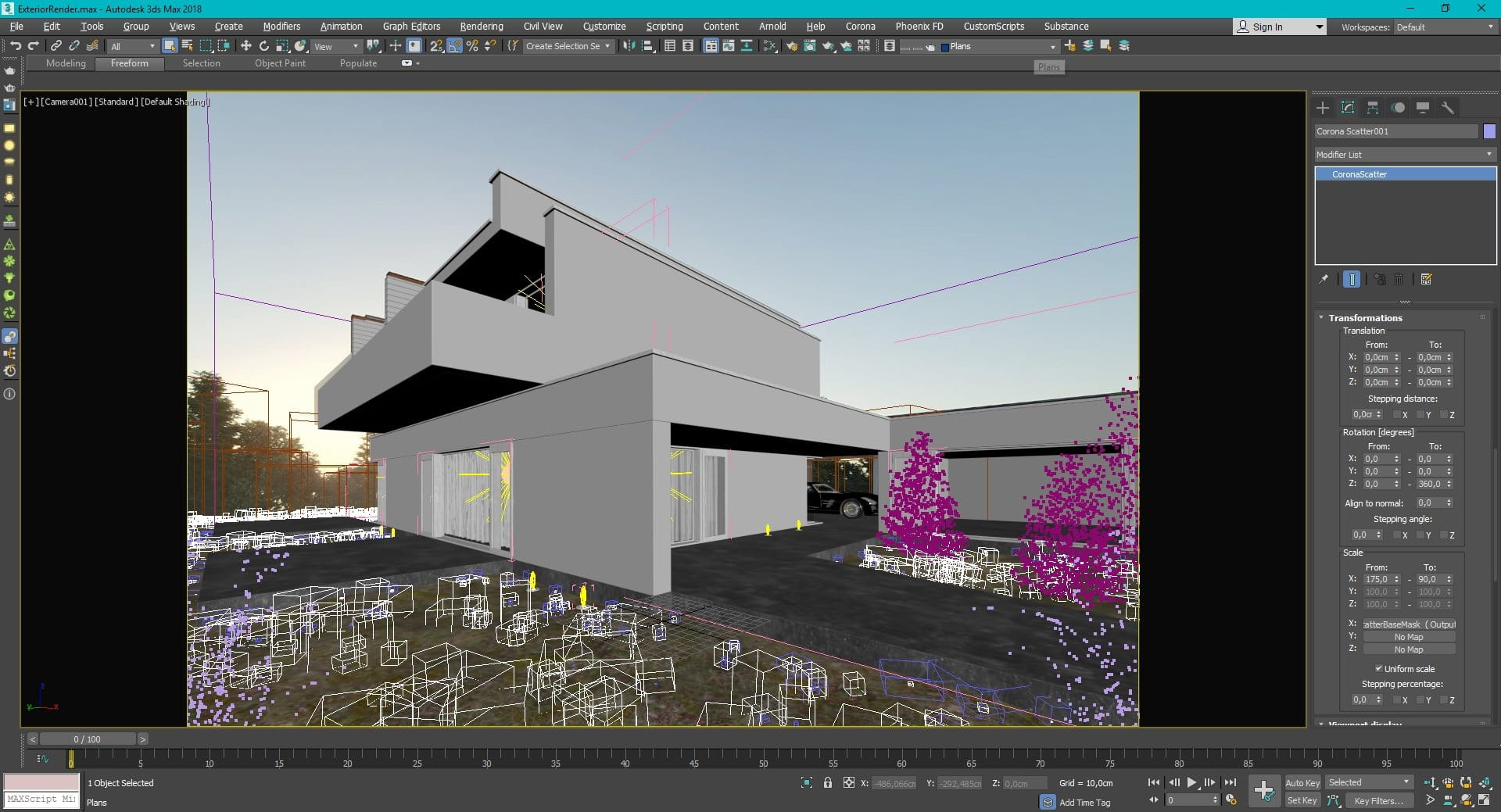 3ds Max and Corona Renderer - Exterior Visualization