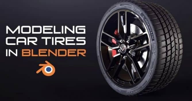 Modeling Car Tires in Blender - Evermotion