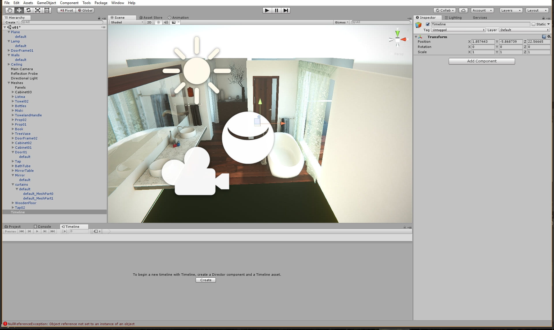 Re-creating bathroom in Unity - Evermotion