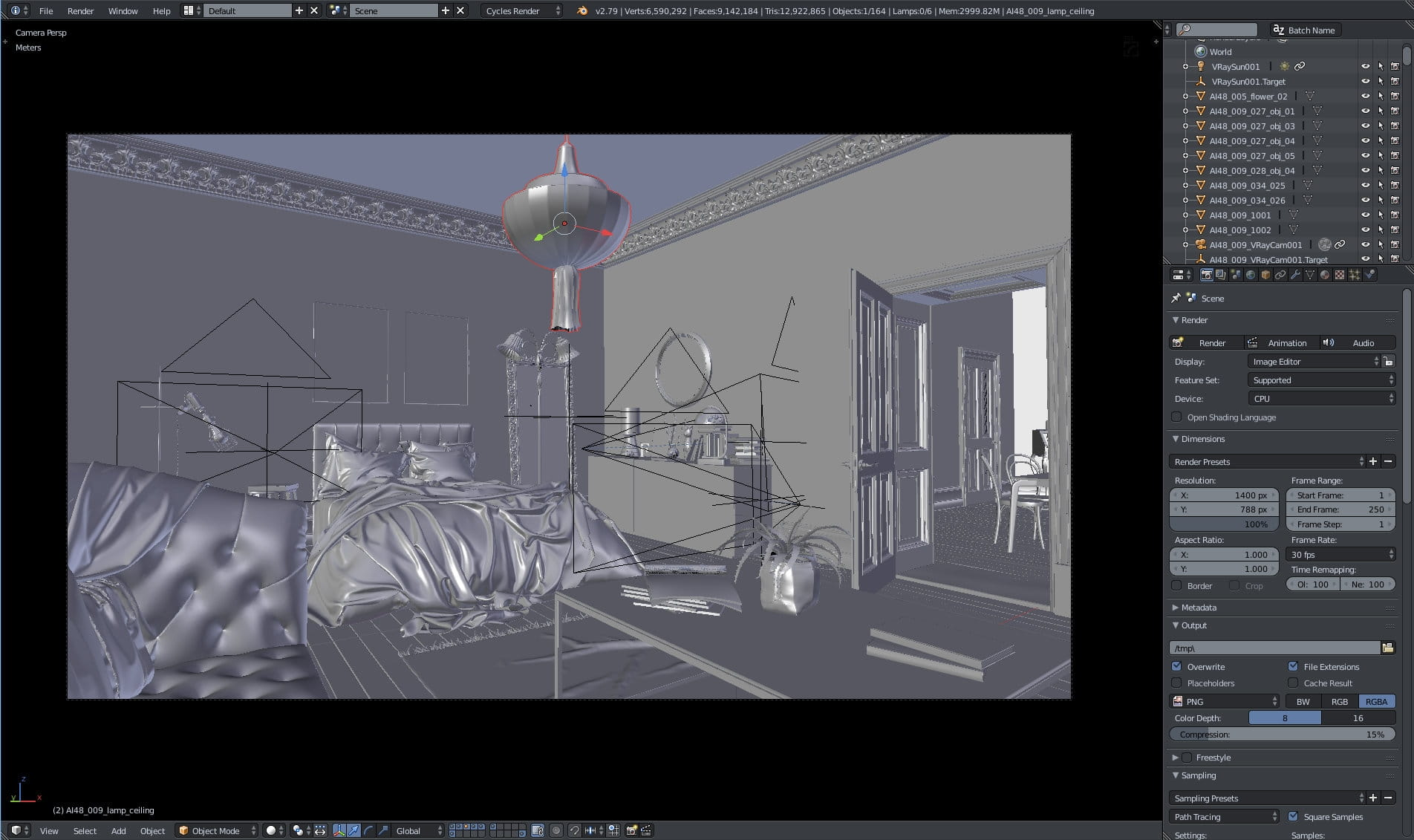 """Making of """"Stylish Bedroom"""" in Blender - Evermotion"""
