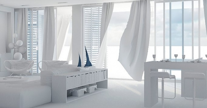 3Ds Max Curtains Wind Simulation - Evermotion
