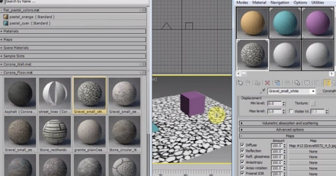Create And Organize Material Library Inside 3ds Max