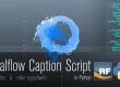 Realflow Tutorial - Caption Script in Python