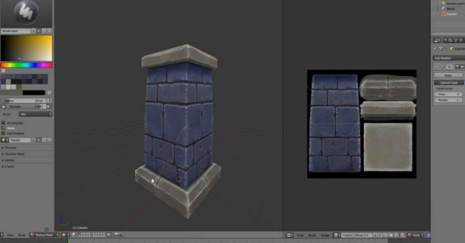 Hand Painting Textures In Blender