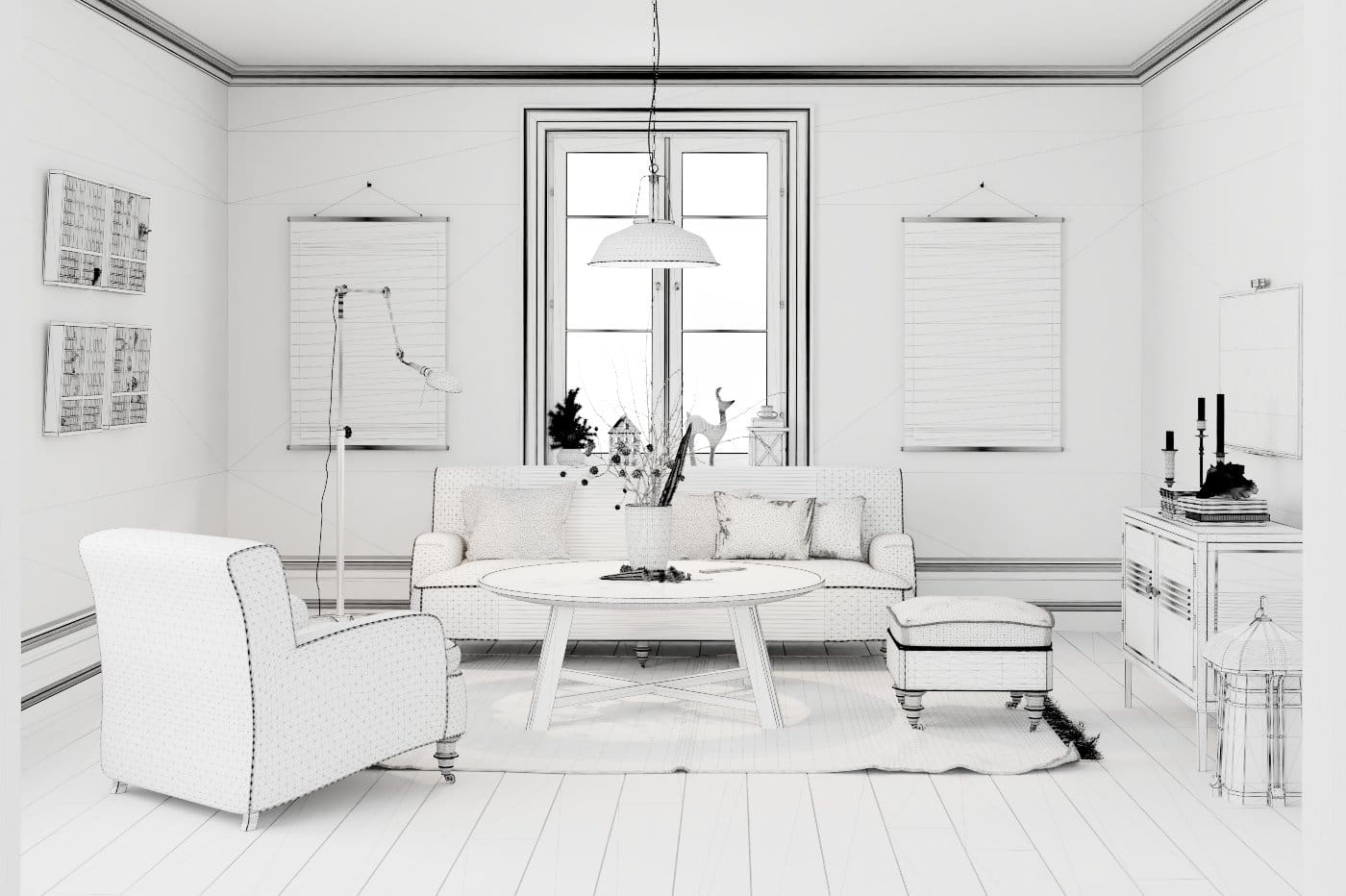 Making of Stylish Living room - Tip of the Week - Evermotion