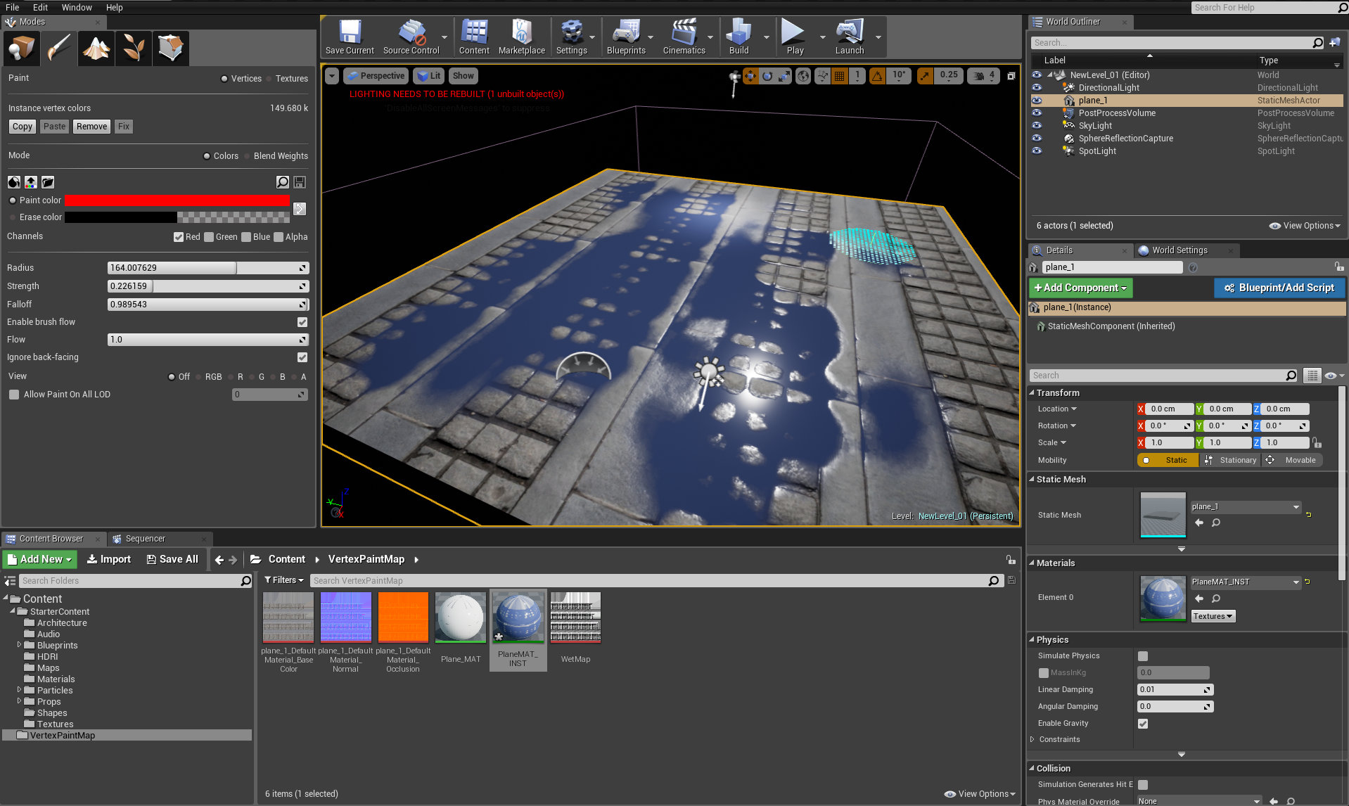 Paint puddles in Unreal Engine - Tip of the Week - Evermotion