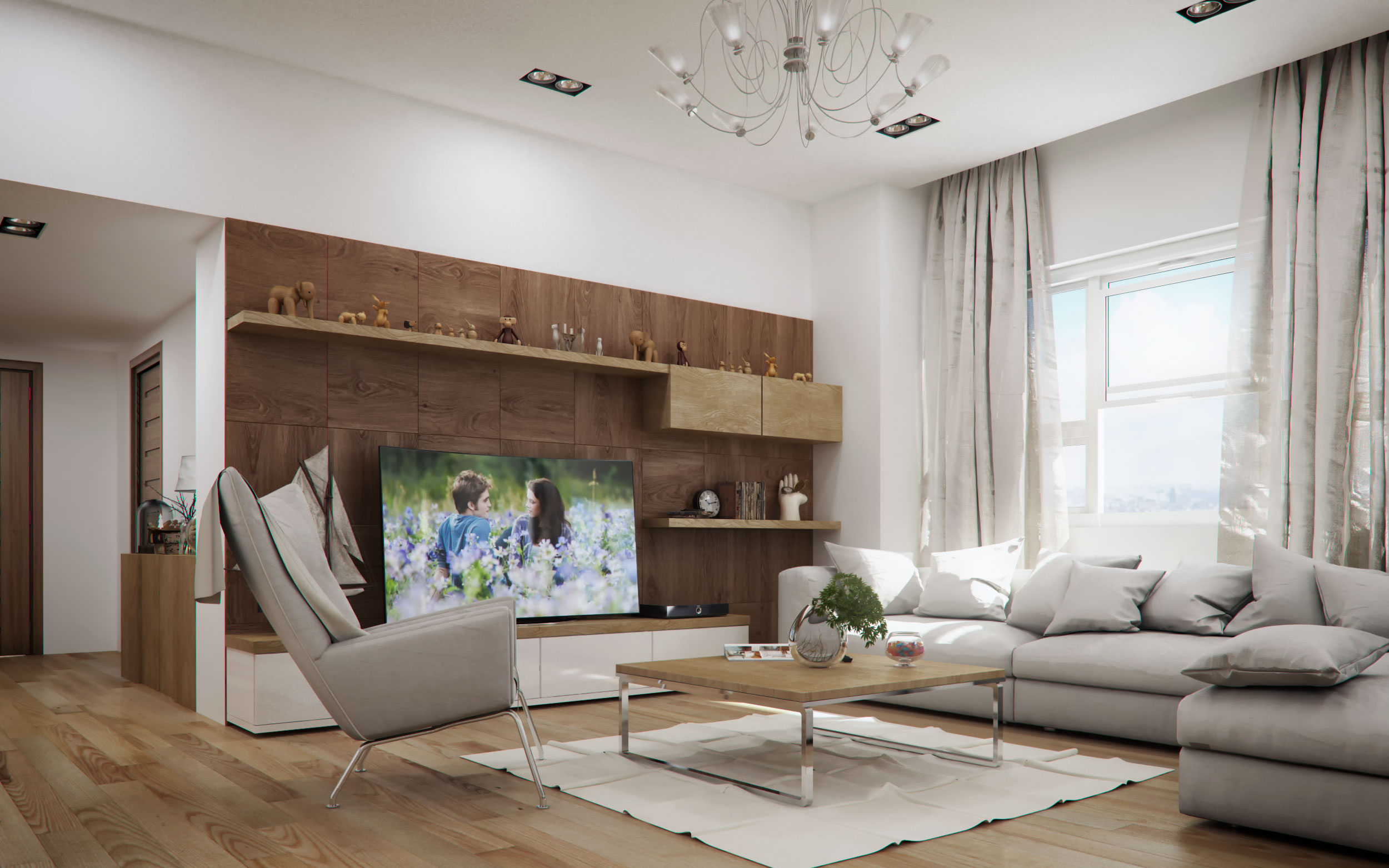Captivating Living Room Render Contemporary - Simple Design Home ...