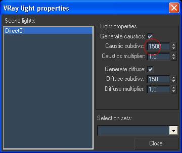 VRay - эффект объёмного света *