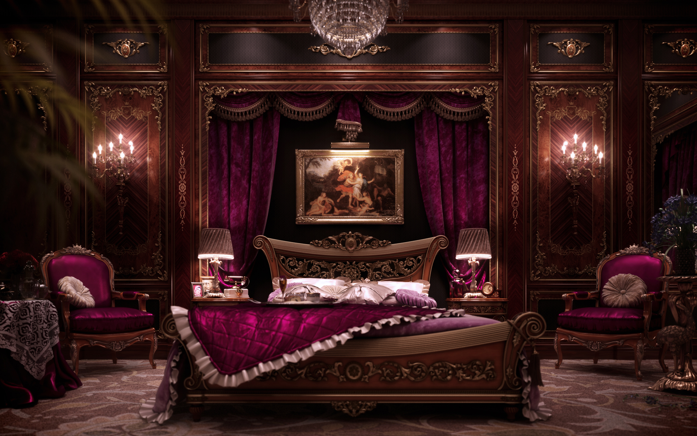 Master Bedroom Decorating Ideas 2013 I Am The King Making Of Luxury Bedroom Evermotion