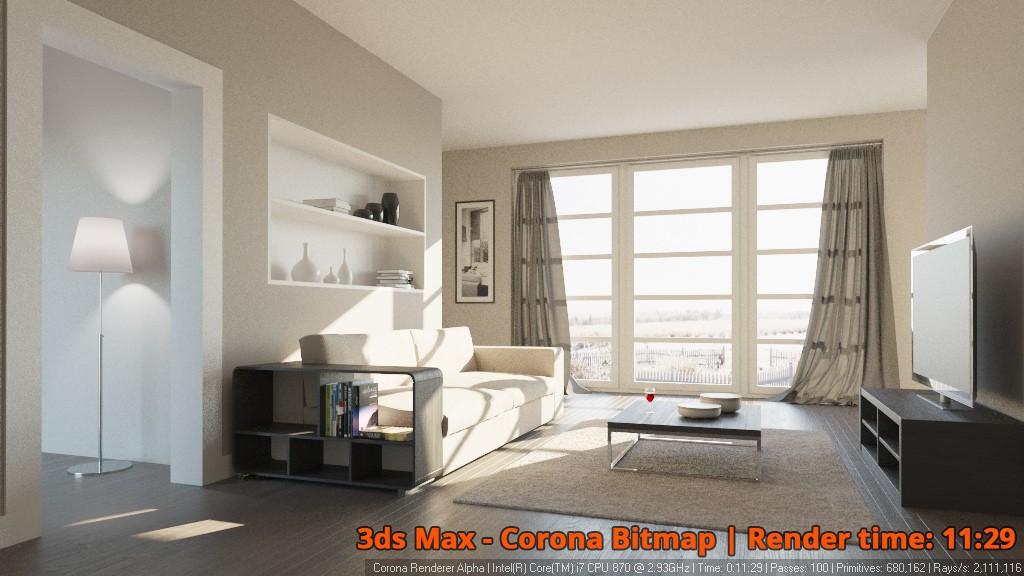 corona renderer 1 1 for 3ds max released. Black Bedroom Furniture Sets. Home Design Ideas