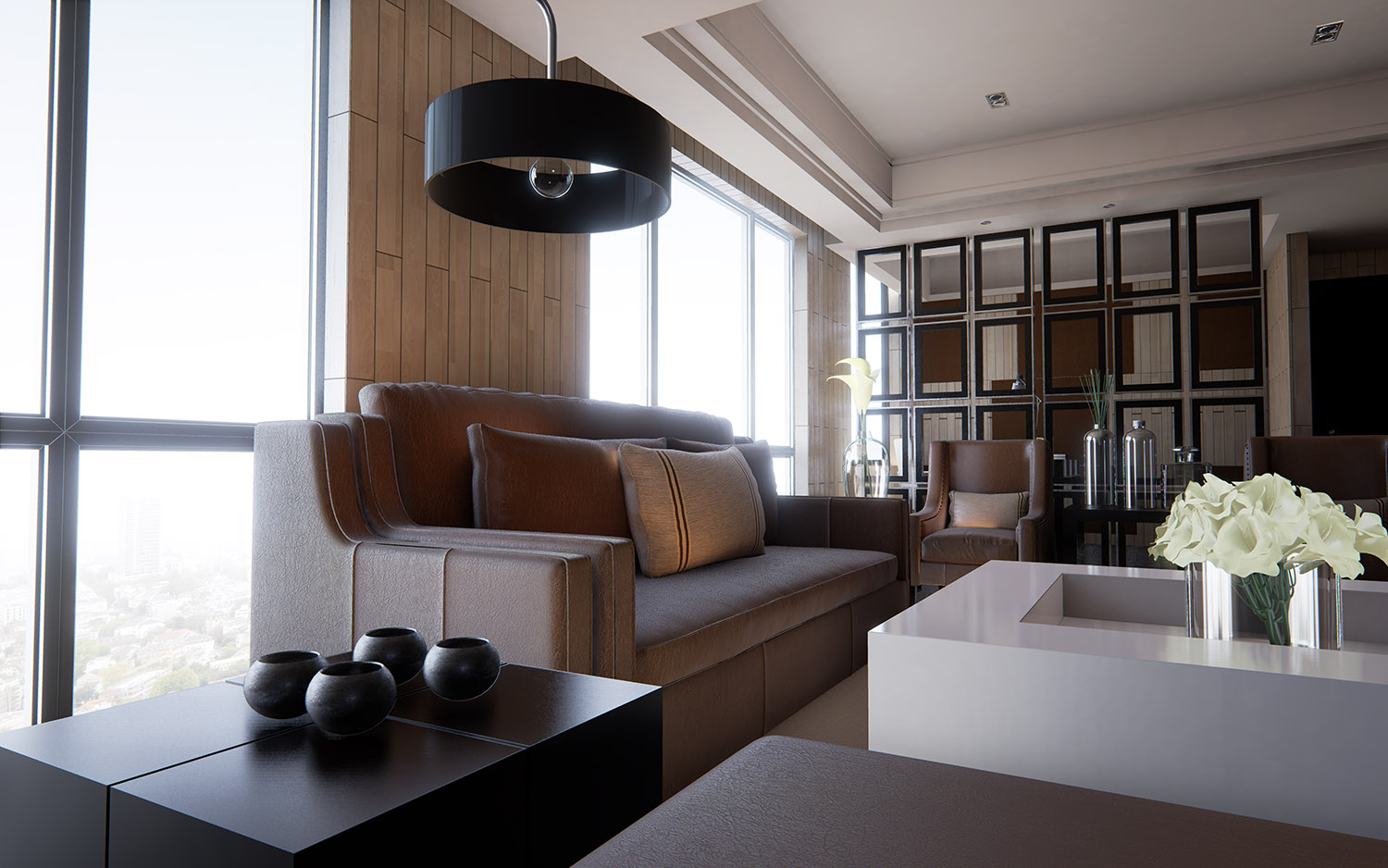 Exterior and interior scenes made in unreal engine 4 for Unity 3d room design