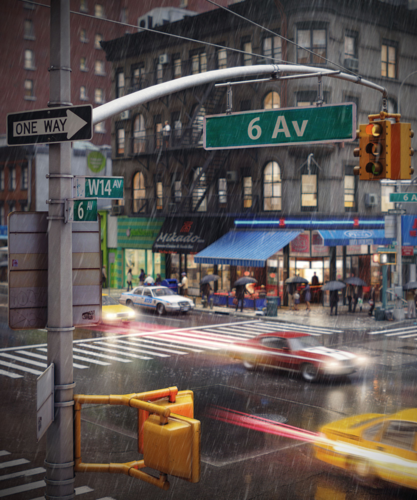 Making Of City Life New York Intersection Evermotion