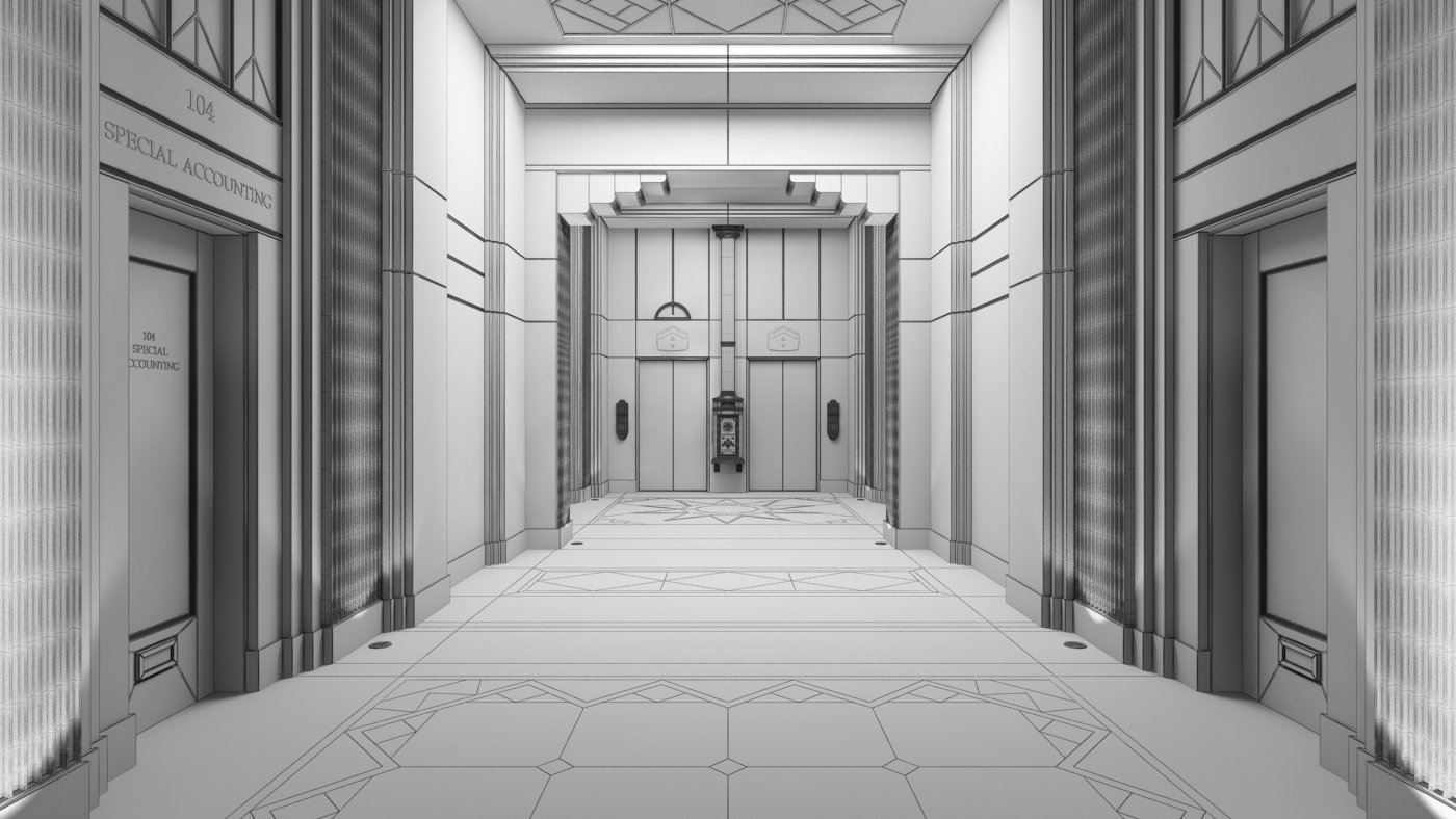 making of hotel corridor - evermotion