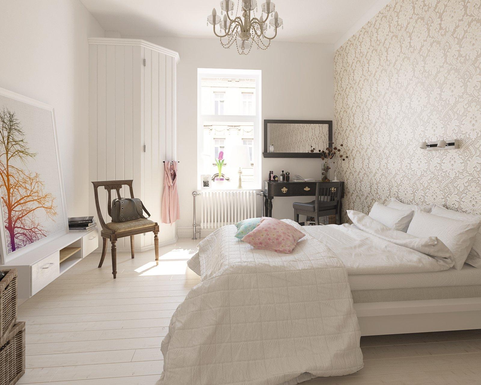 Making of scandinavian bedroom tip of the week evermotion - Idee papier peint chambre adulte ...