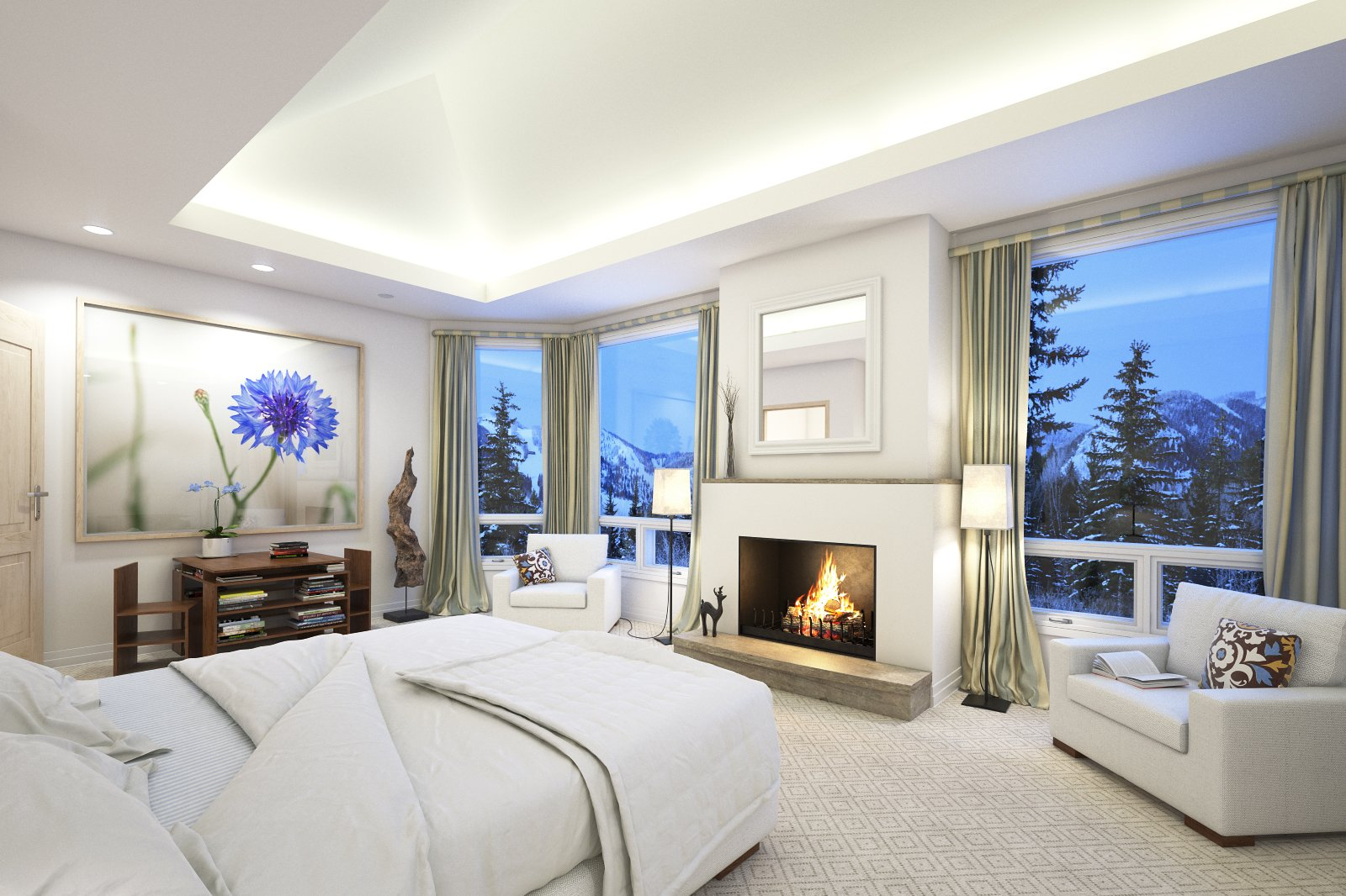 Making of a bedroom with fireplace - Tip of the Week ...