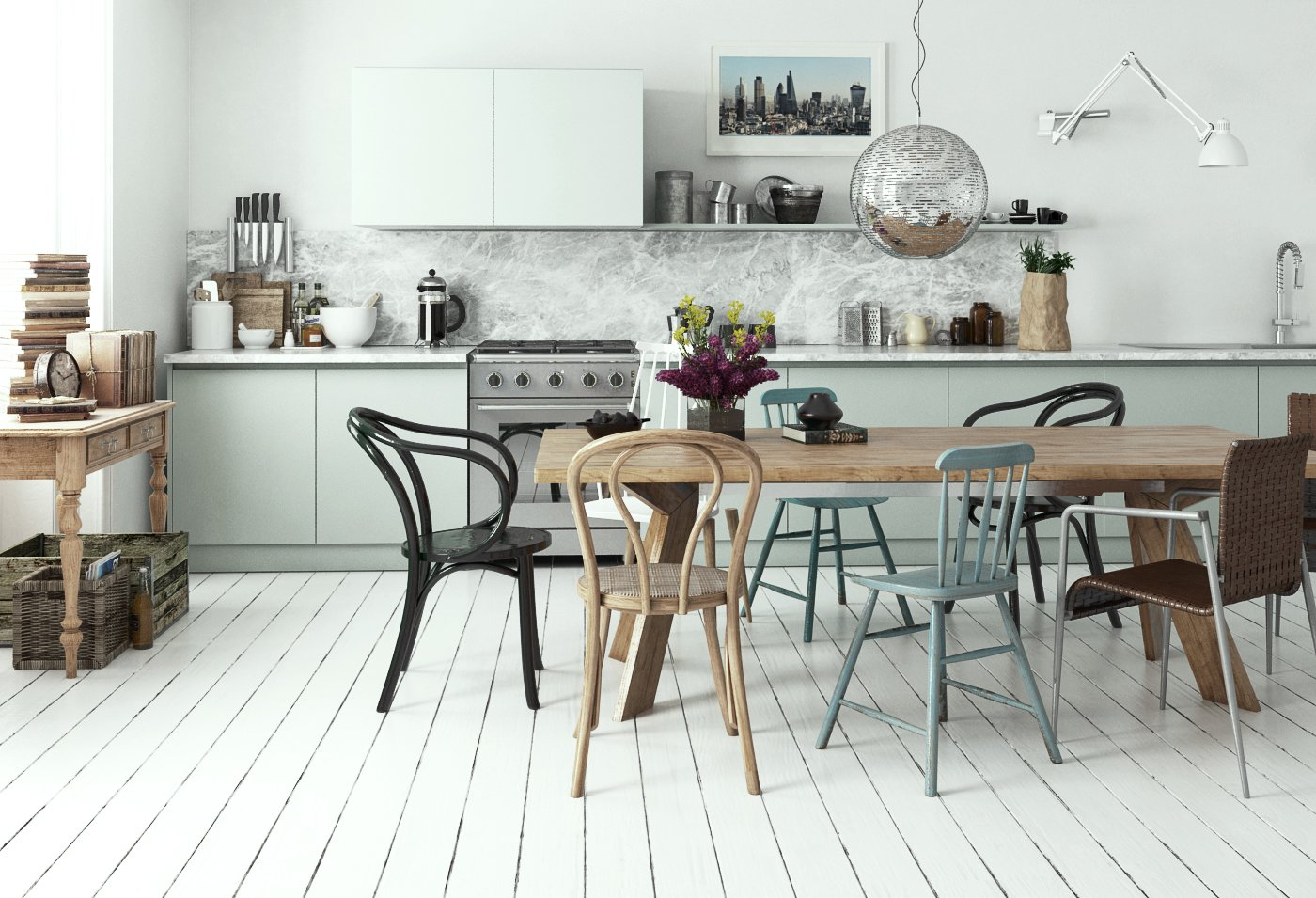Making of scandinavian kitchen tip of the week evermotion for Association maison
