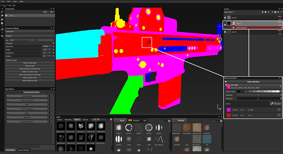 how to create uv color map blender