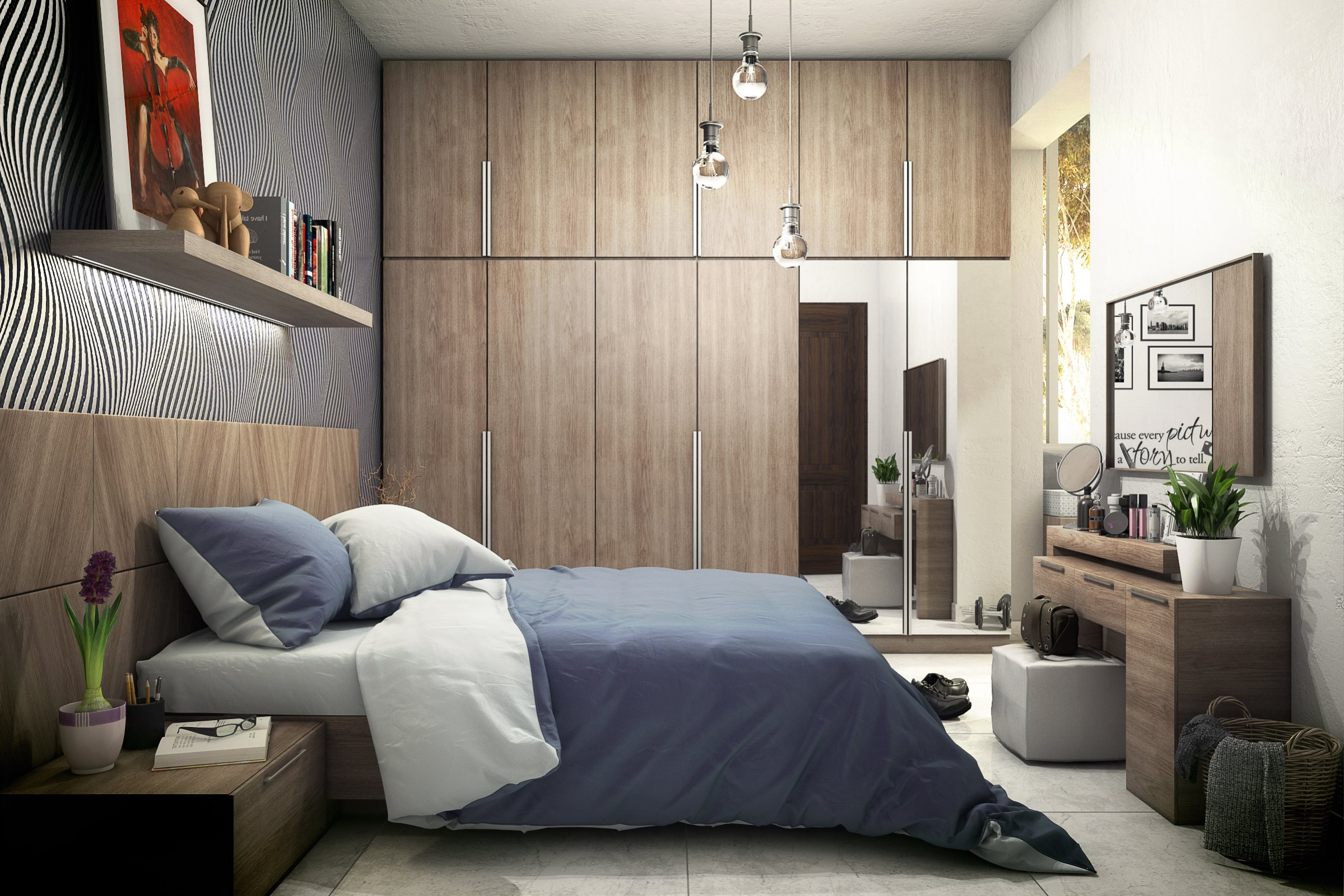 Bed room for Room design 3ds max
